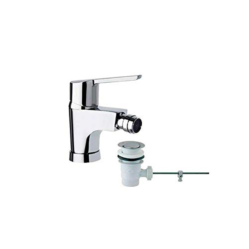 Ramon Soler 46B305040 Atalanta – Monomando de bidé con válvula automática ABS, sistema S2 de ahorro de agua del 50%, limitador de temperatura y cromado Diamond Finish