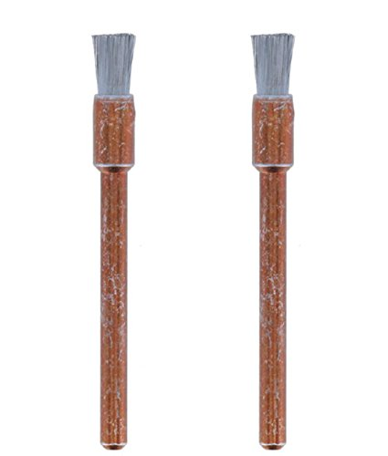 Dremel 532-02 Stainless Steel Brushes (2 Pack), 1/8'