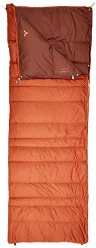 VAUDE Schlafsack Kamor 400 DWN, leichter Daunenschlafsack mit 430g Füllung, mit zweiten Schlafsack koppelbar, chestnut, one Size, 129635910010