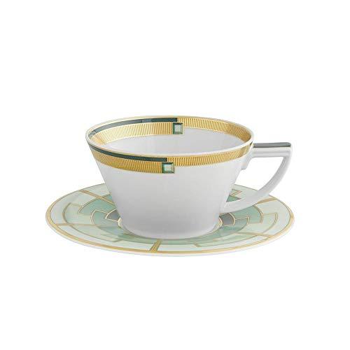 Vista Alegre - Taza de té y plato esmeralda