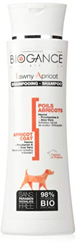 Biogance Shampoing Soin/Nettoie Pelage Blonds Poils Abricots Origine Bio/Naturelle pour Animal de Compagnie 250 ML