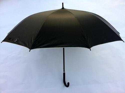 Riyashop Regenschirm Stockschirm Automatik Schwarz Sonnenschirm Stabil 80 cm Damen Herren