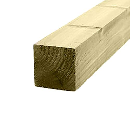 Ruby 4' x 4' (100mm) Pressure Treated Wooden Gate Fence Post 2.4m - Various Pack Sizes (10)