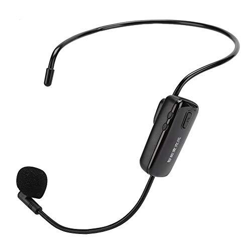 UHF draadloze hoofddeksel microfoon, draagbare headset microfoon hoofdmicrofoon met HD digitaal scherm, draadloze microfoon Geschikt voor lesgeven, reizen