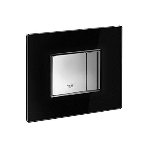 Grohe 38845KS0 Skate Cosmopolitan Piastra di Azionamento WC, Doppio Scarico, Velvet Black, Nero
