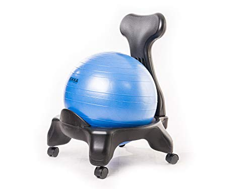 Kikka Active Chair – Silla ergonómica con pelota hinchable (azul, estándar)