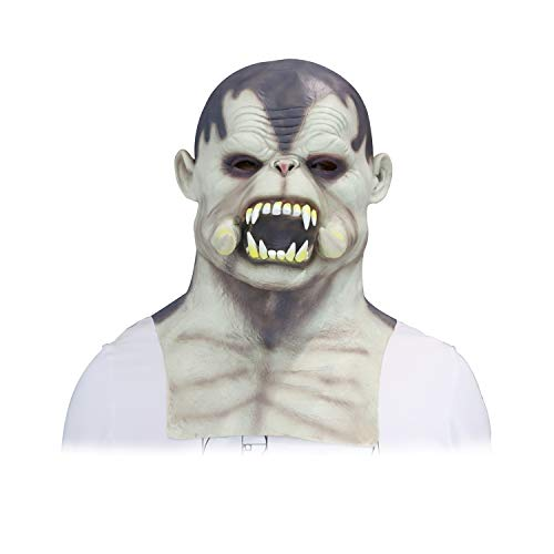Halloween Scary Adults Men Mask,Cool Full Face Latex Helmet Mask, Hacker Vampire Demon Monster Mask,Realistic Scary Mask,Party Decoration Prop 2020