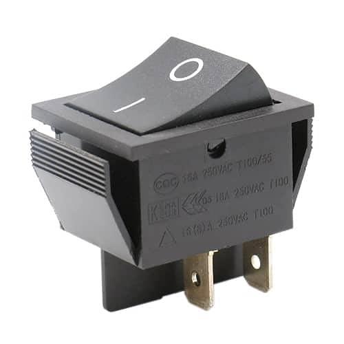 CABLEPELADO Interruptor basculante ON-OFF DPST 4 vias Negro 16 A