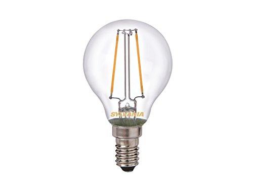Sylvania SYL0027237 Ampoule Toledo Retro Ball sphérique, 250 lumens, puissance 2 watts,culot E14 sous blister, Aluminium, Blanc