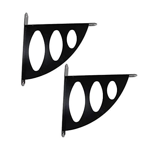 YPZCJ Shelf Brackets,Soportes para Repisas Triangulares de Sector MetáLico de 2 Piezas, Estante Decorativo de Pared para Sala de Estar, Cocina, Oficina Espesar/Negro / 192mm