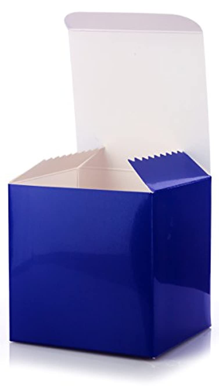 6 Pack of Small Square High Gloss Royal Blue Gift Boxes- 6 X 6 X 6