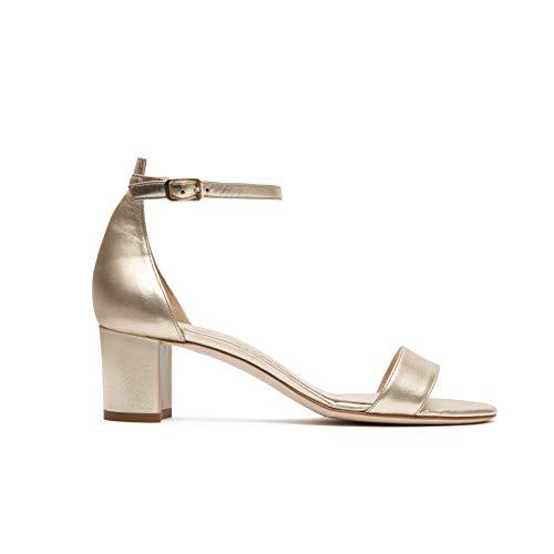 Vivikka Zapatos de novia de lujo: sandalias con tacón bajo de 5...