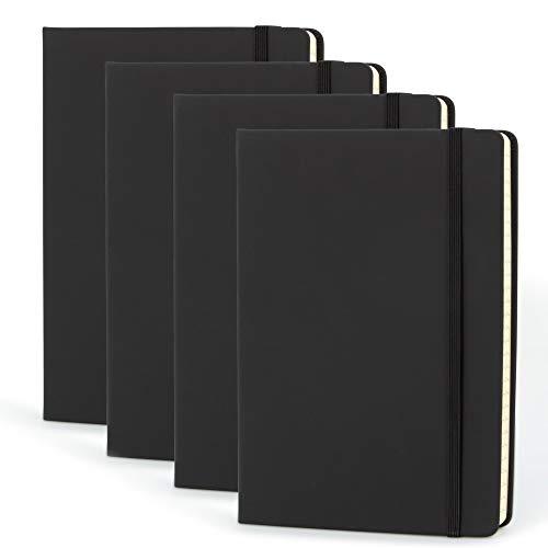Simply Genius - Cuaderno de tapa dura de piel sintética (A5, rayado, 192 páginas, 5,7 x 8,4 pulgadas)