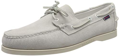 Sebago Docksides Portland Suede, Chaussures Bateau Hommes, Blanc (White 911), 40 EU