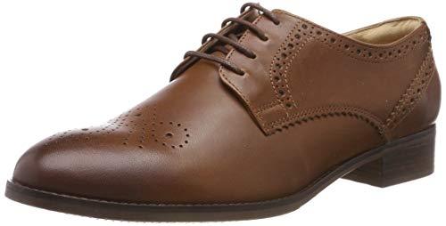 Clarks Damen Derbys, Braun (Tan Leather), 39 EU