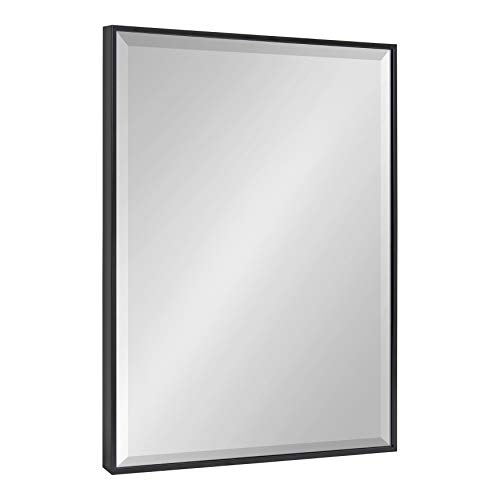 Kate and Laurel Rhodes Large Framed Decorative Rectangle Wall Mirror, 23