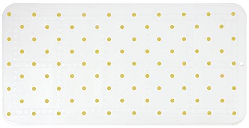 Gelco Design 710621 Tapis Antidérapant, Mousse de PVC, Blanc/Dore, 70 x 35 cm