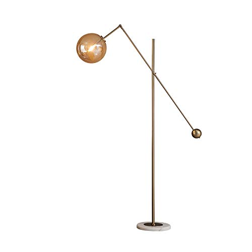 Industrial Floor Lamp For Living Rooms & Bedrooms, Rustic Farmhouse Reading Lamp, Adjustable Arm Indoor Pole Lamp For Crafts