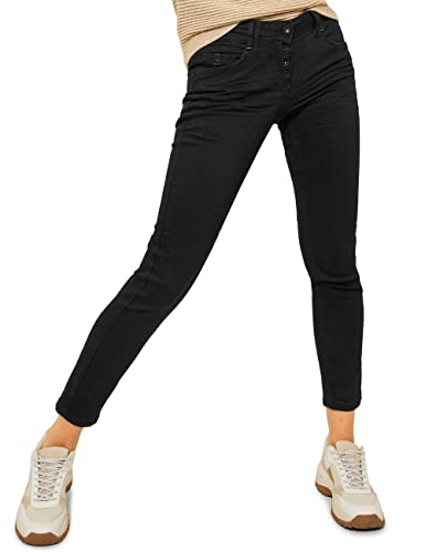 Cecil Damen 374518 Jeans, Black, W30/L32