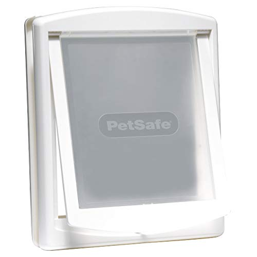 PetSafe Staywell Original Katzenklappe u. Hundeklappe, 2 Verschluss-Optionen inkl. Verschlussplatte, Robuste Kunststoff Klappe, Katzenklappe u. Hundeklappe für Innentür & Außenmontage, Größe M, weiß