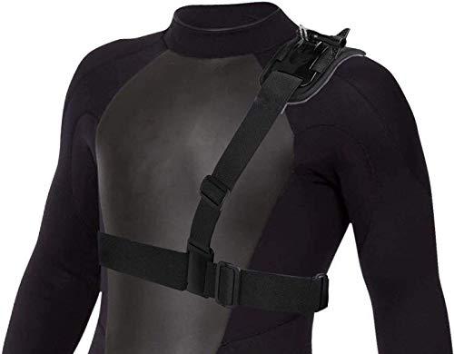 Navitech Adjustable Elastic Shoulder Strap Harness Compatible with The Garmin VIRB Ultra 30