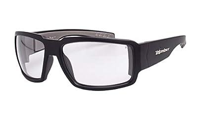 Bomber Safety Glasses - Boogie Bomb (BG101) Matte Black Frm / Clear Pc Safety Lens / Gray Foam