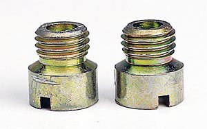 Holley Performance 122-61 Carburetor Jet; Standard Main Jet; 1/4-32 UNF Thread; Hole Size 0.061 in.; Pair;
