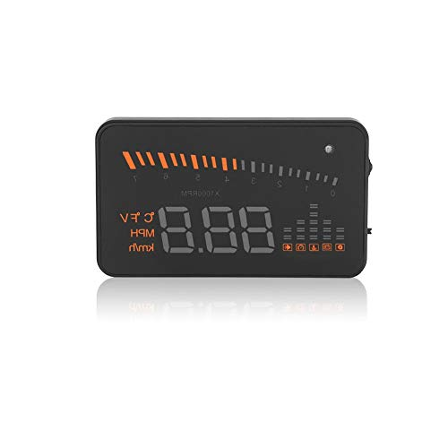 OBDII HUD Head Up Display 3-Zoll-Bildschirm LED-Projektor mit Geschwindigkeitswarnsystem für PKW-LKWs