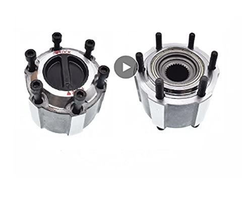 Jhong Store Ajuste de la Rueda de 2 Piezas para Nissan Fit para NAVARA Adecuado Pickup D21 Apto para terrano I 86-89 40250-32G10 4025032G10 Cerral de Bloqueo 27 Splines