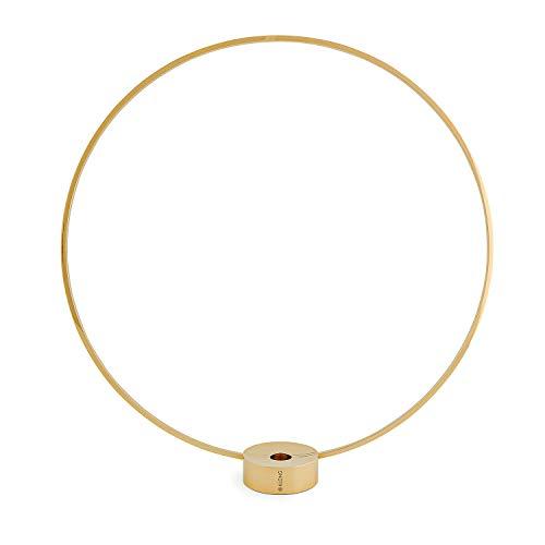"Klong Kerzenständer ""Gloria"" Gross in Messing - (H/B/L): 44x41x7,5 cm - Rund - Designpreis - kombinierbar als Vase - Skandinavisches Design"