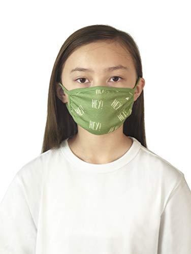 TOM TAILOR Unisex Kinder Muster Stoffmaske, Olive Green, Einheitsgröße