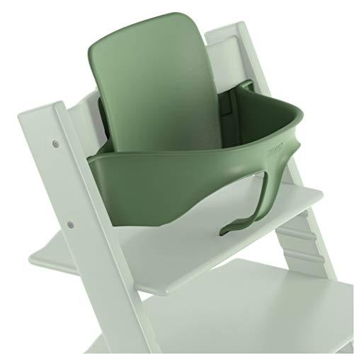 TRIPP TRAPP® Baby Set para niños a partir de los 6 meses │ Accesorio de bebé para la silla evolutiva de STOKKE® │ Respaldo ergonómico │ Color: Moos Green