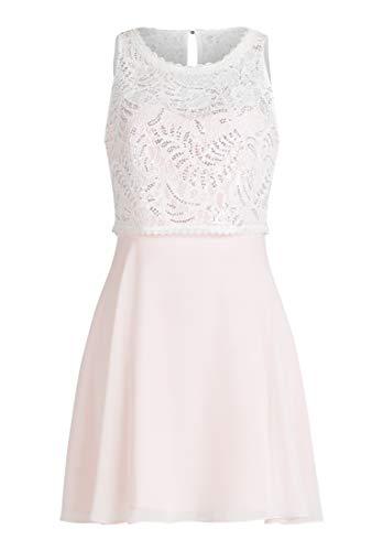 Vera Mont VM Damen 0102/4825 Kleid, Rosa (Rosé/White 4814), (Herstellergröße: 44)