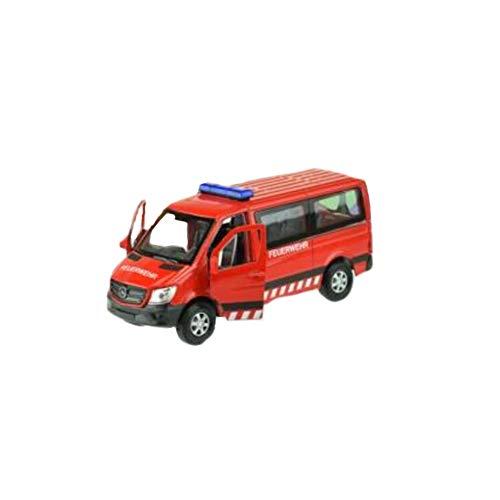 Welly–Mercedes Sprinter Feuerwehr Juguetes electrónicos, 21660z, Multicolor