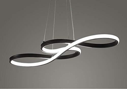 L.w.s una araña Lámpara colgante LED moderna nota de la música lámpara de acrílico luminaria empotrada instalación arte del techo luz minimalista luz de techo luz brillante blanca colgante no regulabl