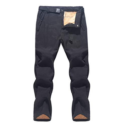 Pantalones de esquí para Hombre Pantalones de Nieve cálidos Impermeables a Prueba de Viento Pantalones de Snowboard de esquí de Invierno Camouflage Black Asian 2XL EUR XL