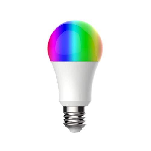 NK Bombilla LED Inteligente - WiFi 2.4GHz, 9W E27, Luces RGB, Compatible Amazon Alexa/Google Home/IFTTT, Control APP, Encendido/Apagado Remoto, Inalámbrico