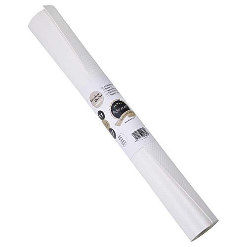 Alfombrilla de cajón 200 x 48 cm - alfombrilla antideslizante - inserción de nevera, en diferentes colores (blanco)