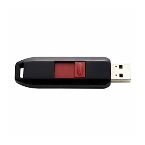 Intenso Business Line - Chiavetta USB da 8GB - Pendrive USB 2.0, nero, rosso