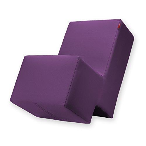Laxxer Polsterhocker zum Sitzen, Spielen und Rumtoben - Loungemöbel & Spielmöbel für Kinder und Erwachsene - violett