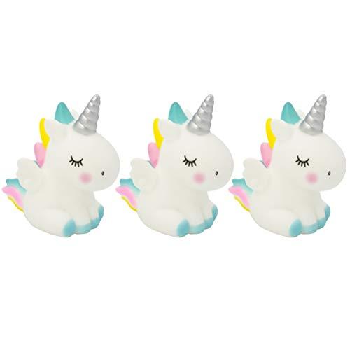 Decoración para cupcakes con unicornio, 3 unidades, decoración de tarta de unicornio, para cumpleaños, boda, fiesta (azul) 7.5x6x4cm azul