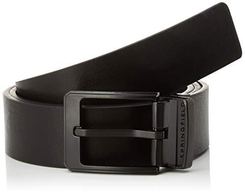 Springfield Cinturon Reversible Lacad-c/01, Negro (Black 1), 85 (Tamaño del Fabricante: 85) para Hombre