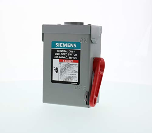 SIEMENS 2P 30A 240V General Duty Safety Switch Outdoor, Non-Fusible