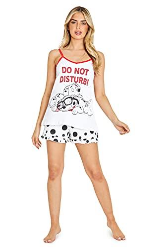 Disney Pijamas Mujer, Pijamas para Mujer De Algodon, Conjunto Pijama Corto de los 101 Dalmatas para...