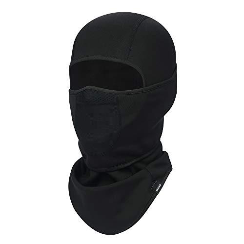 SAITAG Balaclava Ski Mask Warm Face Mask for Cold Weather Winter Skiing Snowboarding Motorcycling Ice Fishing Men (Black)