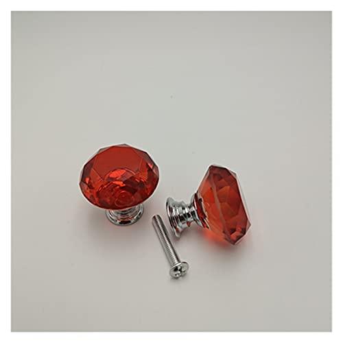 DUBILE Pomos para Cajones,Tiradores para Cajones 30 unids 30 mm Cajón de Cristal Transparente Cajón de un Solo Orificio Mueble de Diamante Simple Muebles Gabinete Cabinete Cabinete Manija