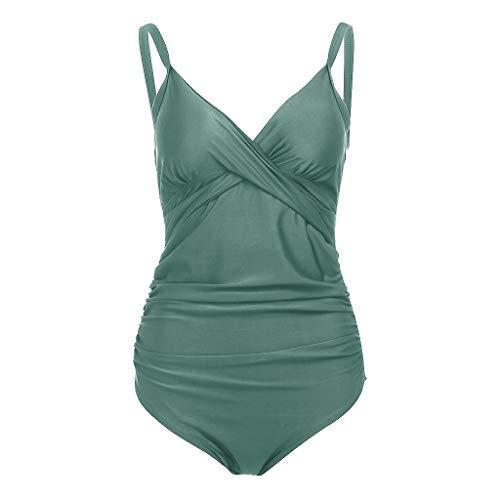 OSYARD Damen Umstandsbadeanzug Umstandsbademode Einteilige Swimsuit Beachwear Swimwear Strandkleidung Badebekleidung Raffinierter Monokini Schwimmanzug für Schwangere