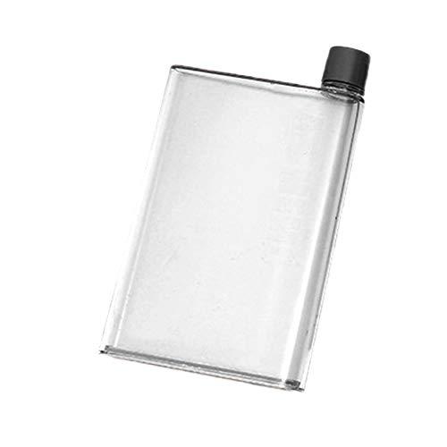 N / E Creative Paper Kettle 420ml Práctico Portátil Plano Hervidor Plano Botella de Agua de Plástico para el Deporte al Aire Libre Ejecución de Bebidas Accesorios para el Hogar