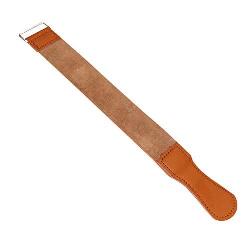 Conjuntos de herramientas Paño de afeitar de cuero real clásico Paño de pulido Piel de doble capa Pañuelo de cuero de vaca raspador Conveniente y práctico Herramientas de hardware