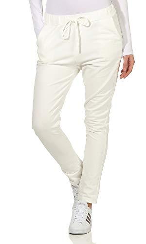 Preisvergleich Produktbild Damen Jogginhose im Boyfriend-Style Sweatpants für Freizeit Sport und Fitness 16 (Einheitsgröße 36-40
